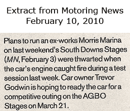 Motoring News article